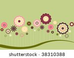 floral abstract in muted spring ... | Shutterstock .eps vector #38310388