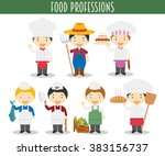vector set of food industry... | Shutterstock .eps vector #383156737