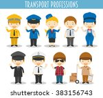 vector set of transport... | Shutterstock .eps vector #383156743