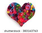 Paper Heart Made In Quilling...
