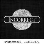incorrect written on a... | Shutterstock .eps vector #383188573