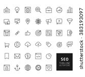 seo outline icons for web and... | Shutterstock . vector #383193097