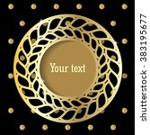 round frame with an ornament. ... | Shutterstock .eps vector #383195677