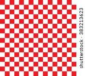 modern checkered pattern red... | Shutterstock .eps vector #383213623
