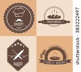 set of bakery logos  labels ... | Shutterstock .eps vector #383222497