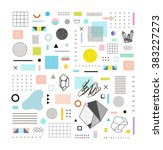 abstract trendy template with... | Shutterstock .eps vector #383227273