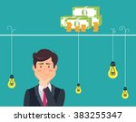 dilemma of businessman.... | Shutterstock .eps vector #383255347