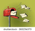 Cartoon Pop Art Mailbox Send...