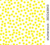 circle abstract pattern. yellow ... | Shutterstock .eps vector #383263843