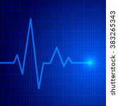heart pulse graphic. vector... | Shutterstock .eps vector #383265343