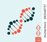 dna icon. dna helix icon...
