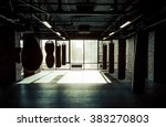 empty modern fight club with... | Shutterstock . vector #383270803