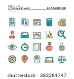 accounting  business statistics ... | Shutterstock .eps vector #383281747