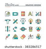 graphic design  creative... | Shutterstock .eps vector #383286517