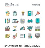 writing  blogging  best seller... | Shutterstock .eps vector #383288227