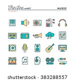 music  sound  recording ... | Shutterstock .eps vector #383288557