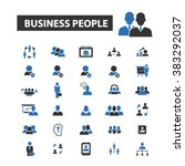 business people icons | Shutterstock .eps vector #383292037