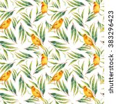 watercolor seamless pattern...   Shutterstock . vector #383296423