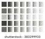 set of 35 square stipple... | Shutterstock .eps vector #383299933