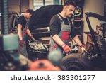 professional car  mechanic... | Shutterstock . vector #383301277