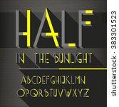 3d isometric retro alphabet... | Shutterstock .eps vector #383301523