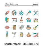 party  celebration  fireworks ... | Shutterstock .eps vector #383301673
