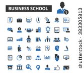business school icons | Shutterstock .eps vector #383305813