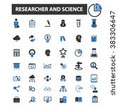 researcher and science icons | Shutterstock .eps vector #383306647