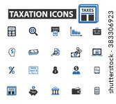 taxation icons | Shutterstock .eps vector #383306923