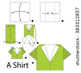 step by step instructions how... | Shutterstock .eps vector #383312857