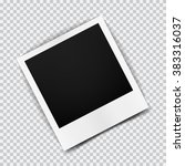 old empty realistic photo frame ... | Shutterstock .eps vector #383316037