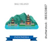 bali island in indonesia. flat... | Shutterstock .eps vector #383323807