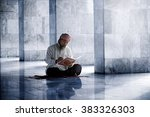 religious muslim man reading... | Shutterstock . vector #383326303