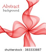 abstract red vector bow  | Shutterstock .eps vector #383333887