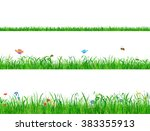 wild green grass backgrounds... | Shutterstock .eps vector #383355913