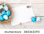Easter Background With Blue An...
