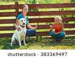 teamwork   woman with little... | Shutterstock . vector #383369497