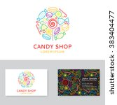 candy shop logo and business... | Shutterstock .eps vector #383404477