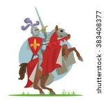 knight on horseback. vector... | Shutterstock .eps vector #383408377