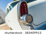 old vintage white veteran car... | Shutterstock . vector #383409913