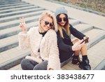 outdoor lifestyle portrait of... | Shutterstock . vector #383438677