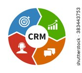 crm   customer relationship... | Shutterstock .eps vector #383443753