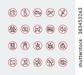 prohibition signs and icons in... | Shutterstock .eps vector #383453263