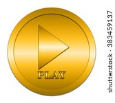 play icon. internet button on... | Shutterstock . vector #383459137