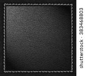 black leather texture... | Shutterstock . vector #383468803