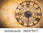 old vintage clock   vintage... | Shutterstock . vector #383479477