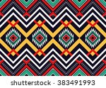 geometric ethnic oriental... | Shutterstock .eps vector #383491993