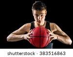 close up studio portrait of...   Shutterstock . vector #383516863