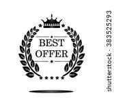 best offer label  flat design... | Shutterstock .eps vector #383525293