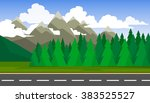 the landscape of forests ... | Shutterstock .eps vector #383525527